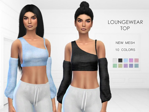 The Sims Resource: Loungewear Top by Puresim