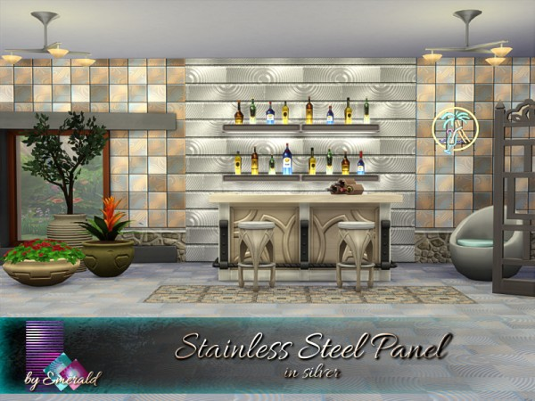 The Sims Resource: Stainless Steel Panel by emerald
