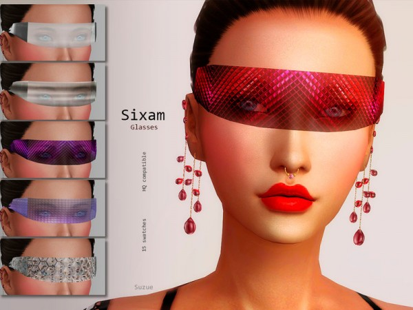 The Sims Resource: Sixam Glasses Apocalypse by Suzue