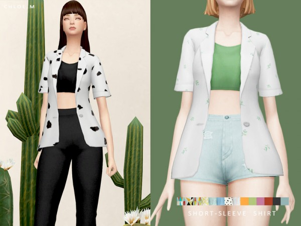 The Sims Resource: Short Sleeve Shirt by ChloeM