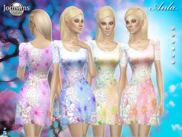The Sims Resource: Anla spring dress by jomsims