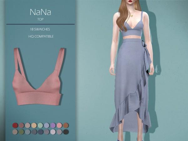 The Sims Resource: NaNa Top by Lisaminicatsims