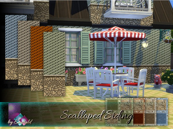 The Sims Resource: Scalloped Siding by emerald