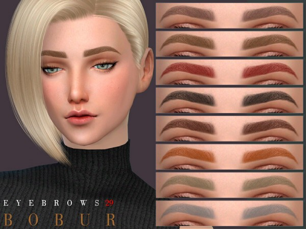 The Sims Resource: Eyebrows 29 by Bobur