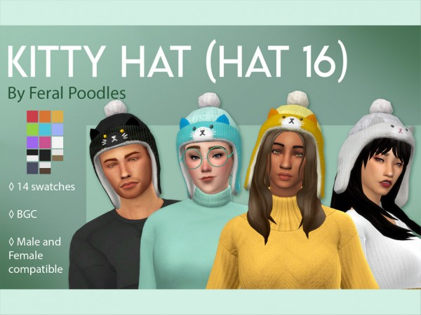 The Sims Resource: Kitty Hat by feralpoodles