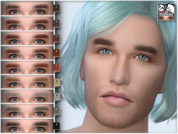 The Sims Resource: Eyebrows 13 by BAkalia