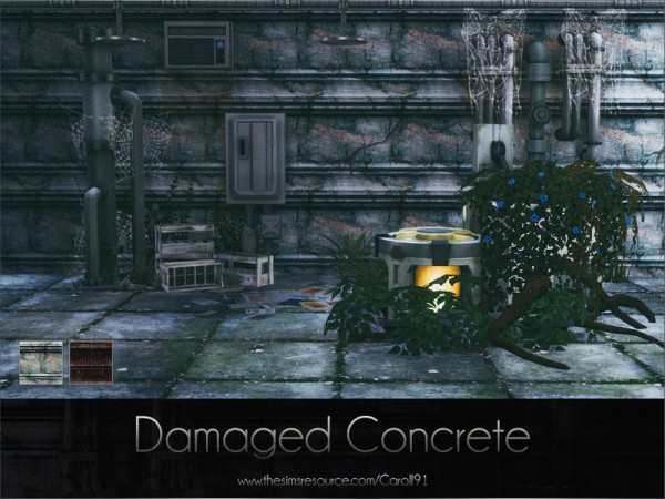 The Sims Resource: Damaged Concrete by Caroll91