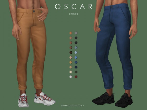 The Sims Resource: Oscar chinos by Plumbobs n Fries