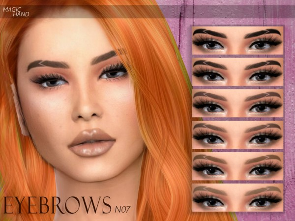 The Sims Resource: Eyebrows N07 by MagicHand