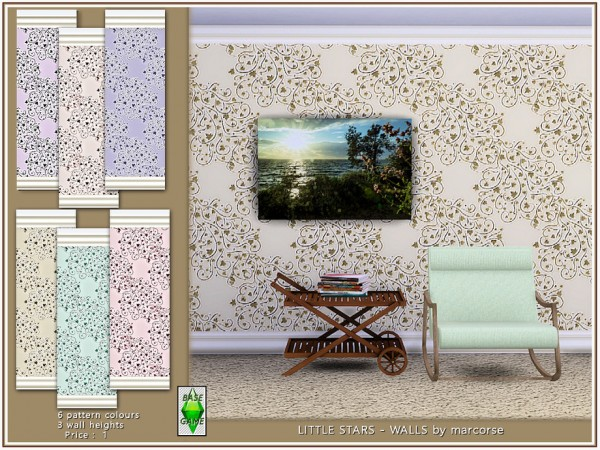 The Sims Resource: Little Stars   Walls by marcorse