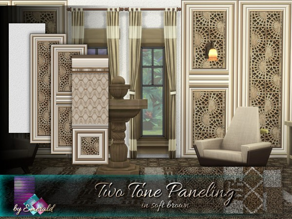 The Sims Resource: Two Tone Paneling in soft brown by emerald