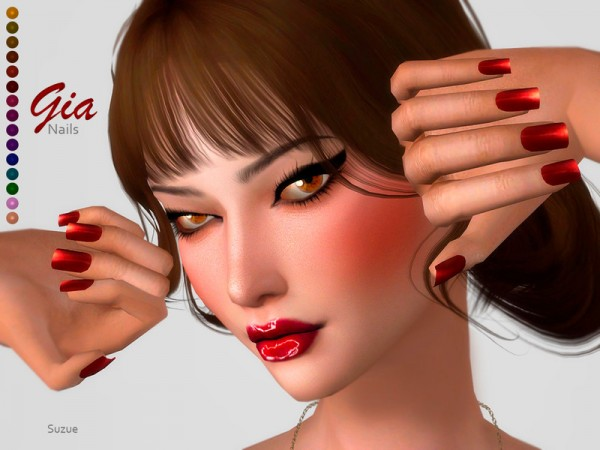 The Sims Resource: Gia Nails by Suzue