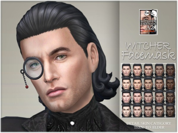 The Sims Resource: Witcher facemask by BAkalia