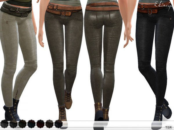 The Sims Resource: Leather Pants With Belt by ekinege