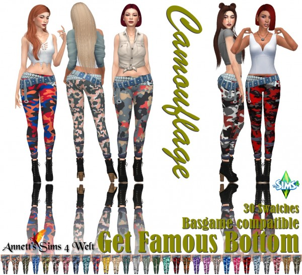 Annett`s Sims 4 Welt: Get Famous Bottom   Camouflage