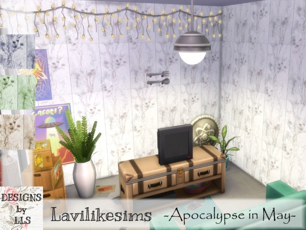 The Sims Resource: Concrete Floral by lavilikesims