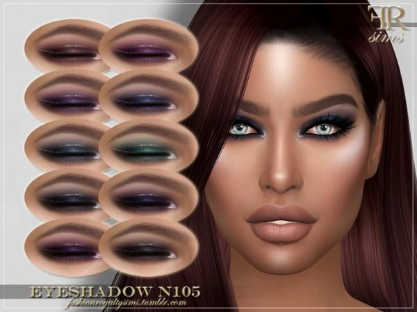 The Sims Resource: Eyeshadow N105 by FashionRoyaltySims