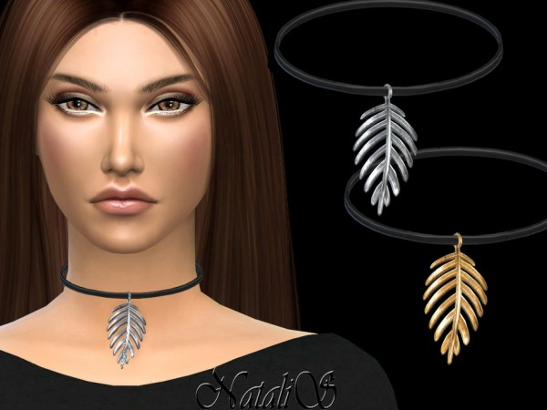 The Sims Resource: Palm leaf pendant by NataliS