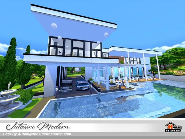 The Sims Resource: Jutasiri Modern house NoCC by Autaki