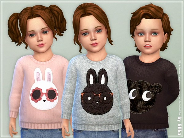 The Sims Resource: Cozy Animal Sweater 03 by lillka