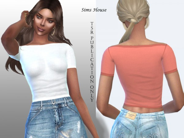The Sims Resource: Womens simple basic t shirt by Sims House