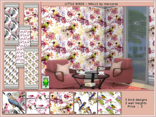 The Sims Resource: Little Birds Walls by marcorse