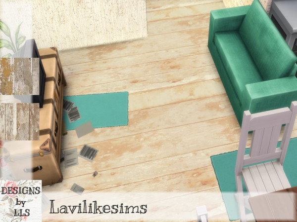 The Sims Resource: Cracked Wood Floors by lavilikesims