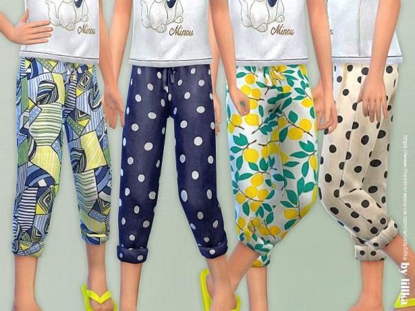 The Sims Resource: Summer Pants for Girls 02 by lillka
