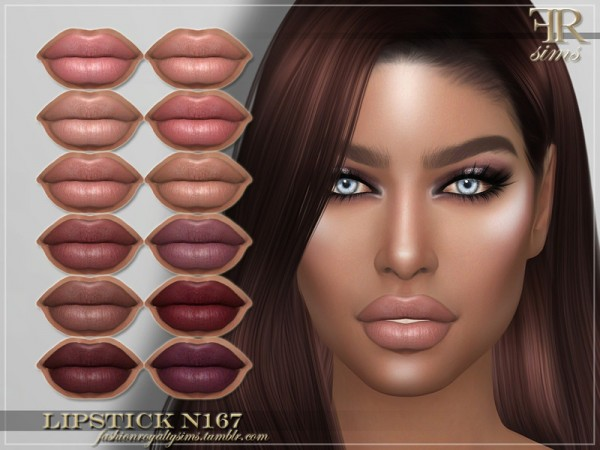 The Sims Resource: Lipstick N167 by FashionRoyaltySims