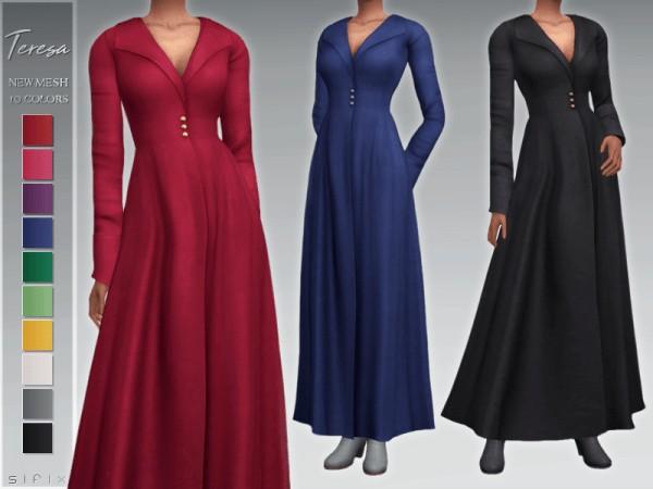 The Sims Resource: Teresa Coat by Sifix