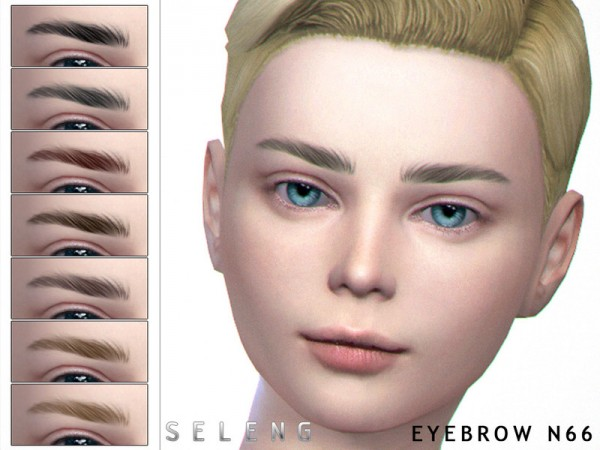 The Sims Resource: Eyebrows N66 by Seleng