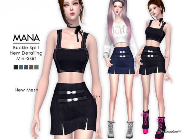 The Sims Resource: MANA   Mini Skirt by Helsoseira