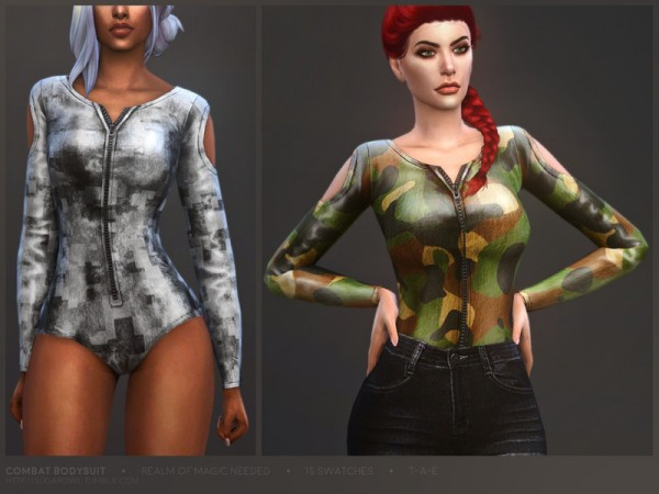 The Sims Resource: Combat bodysuit by sugar owl