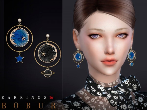 The Sims Resource: Earrings 16 by Bobur