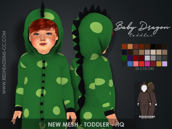 Red Head Sims: Baby Dragon Toddler