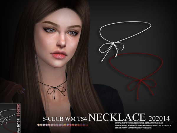 The Sims Resource: Necklace 202014 by S Club