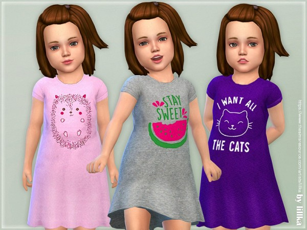 The Sims Resource: Toddler Dresses Collection P136 by lillka