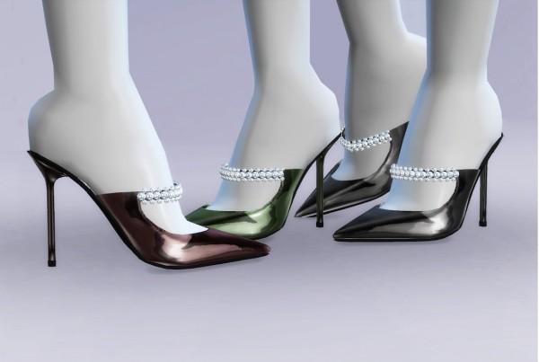 MA$ims 3: Crystal Embellished Mules