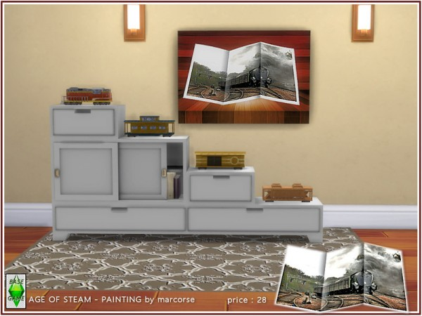 The Sims Resource: Back Age of Steam   Painting by marcorse