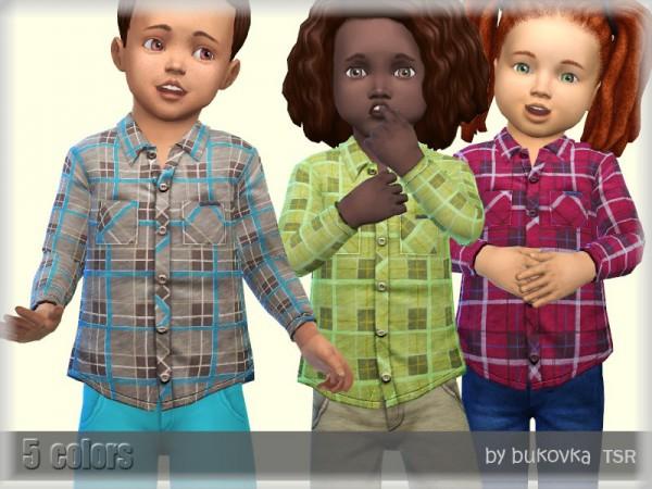The Sims Resource: Plaid Shirt by bukovka