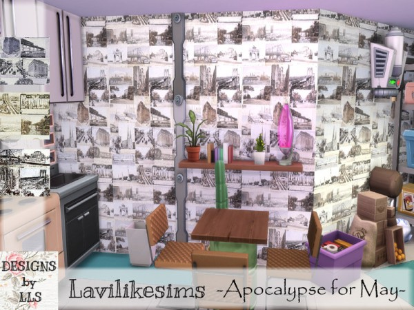 The Sims Resource: Holiday Snaps Walls by lavilikesims