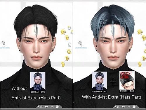 Obsidian Sims: Shadow Moses Hair