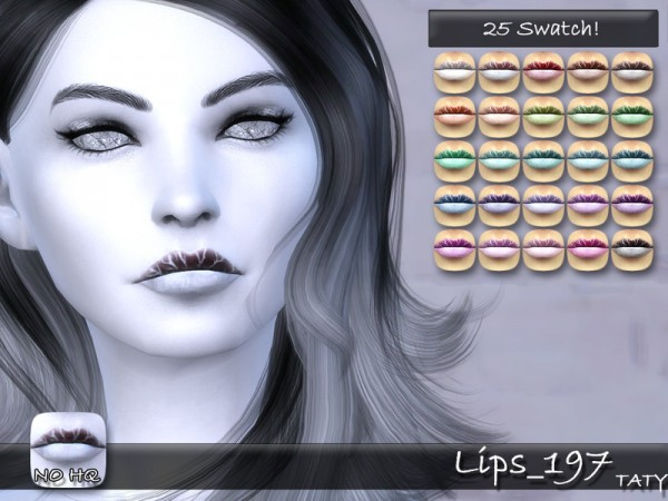 The Sims Resource: Lips 197 by Taty