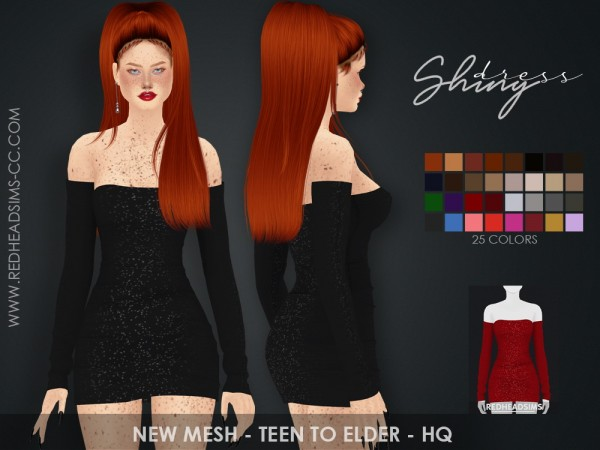 Red Head Sims: Shiny Dress