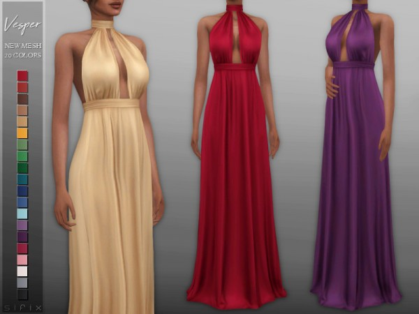 The Sims Resource: Vesper Dress by Sifix