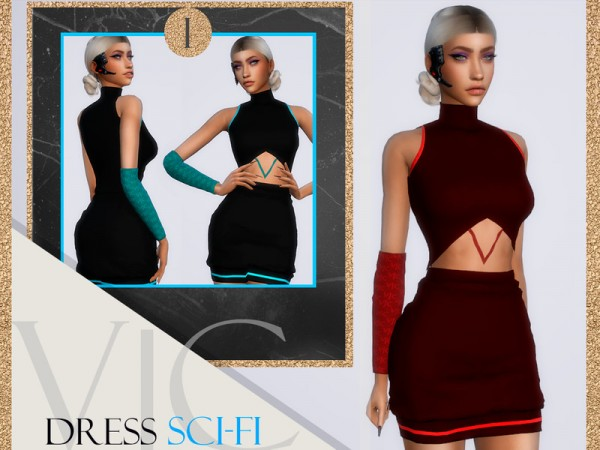 The Sims Resource: Dress Apocalipse SCI FI I by Viy Sims