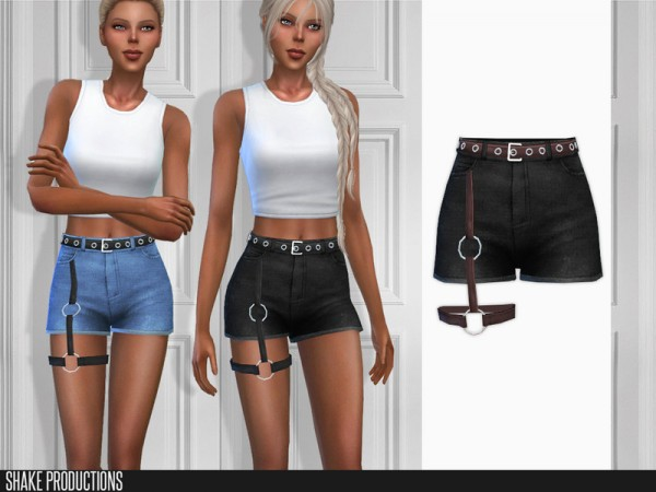 The Sims Resource: Post Apocalyptic   01 Denim Shorts by  ShakeProductions