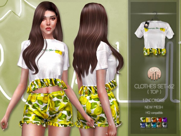 The Sims Resource: Clothes SET 62 (TOP) BD241 by busra tr
