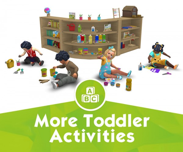 Around The Sims 4: Pre School: Activities for toddlers 2