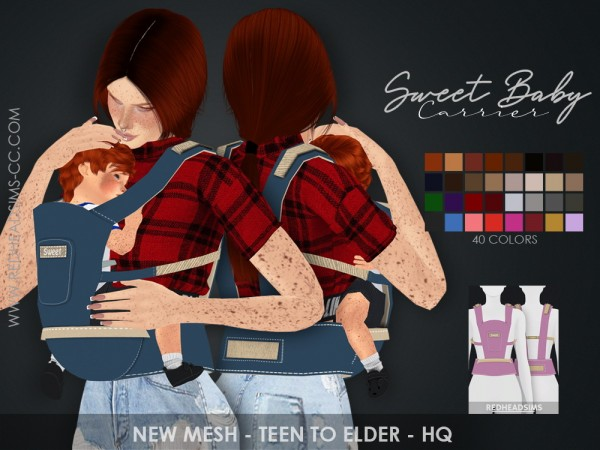 Red Head Sims: Sweet Baby Carrier